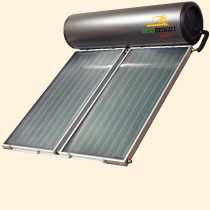 Roof mounted solar hot water